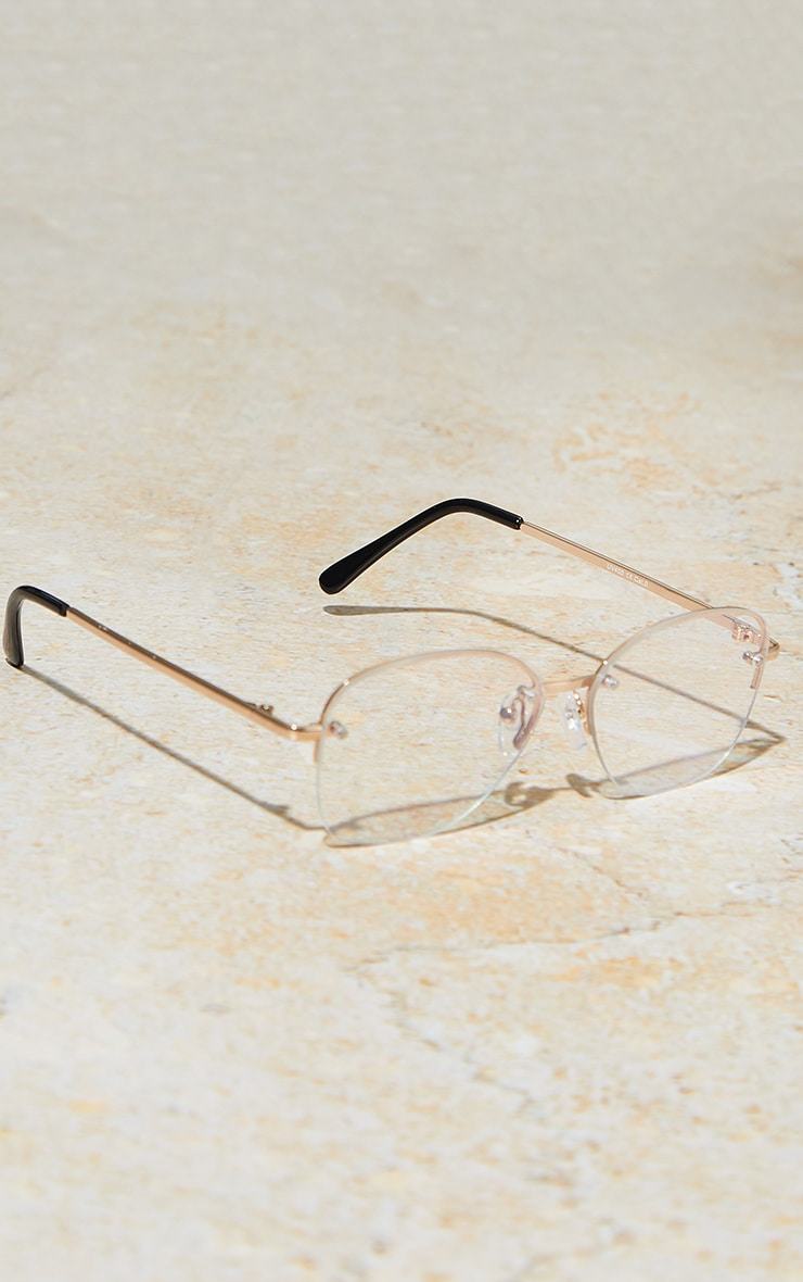 PRETTYLITTLETHING Clear Cat Eye Blue Light Glasses 2