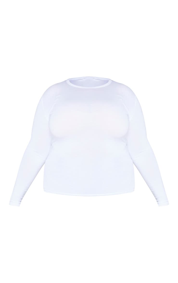 Plus Basic Black & White 2 Pack Long Sleeve Fitted T Shirt 6