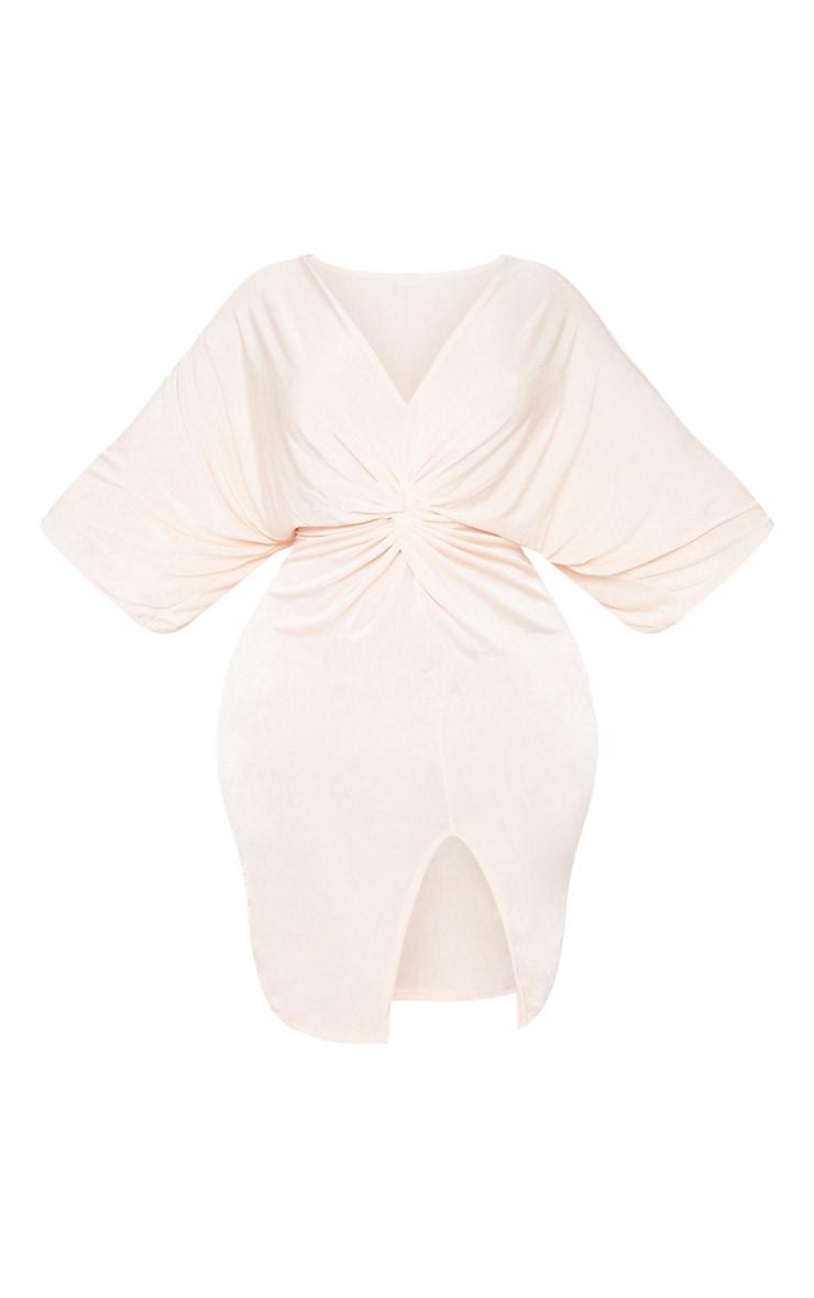 Plus Nude Slinky Kimono Midi Dress 3