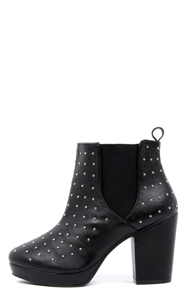 Kasey Black Studded Ankle Boots 1