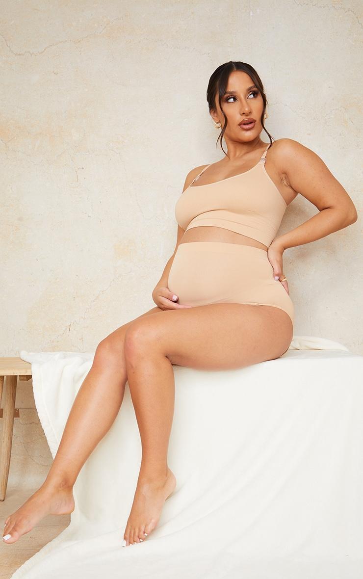 Maternity Camel Seamless Nursing Bra 3