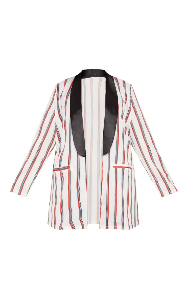 Plus Multi Stripe Longline Blazer 3
