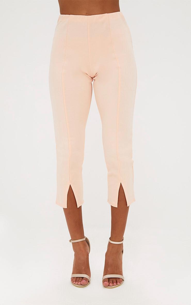 Petite Nude Split Hem Trousers 2