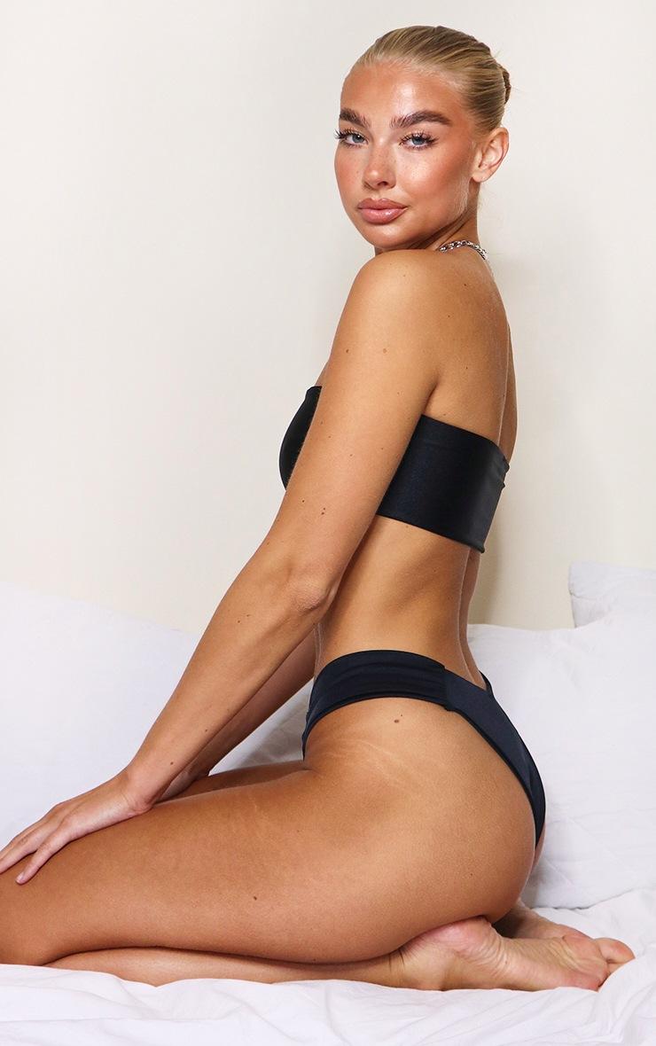 Black Mix & Match Tab Bikini Bottom 3