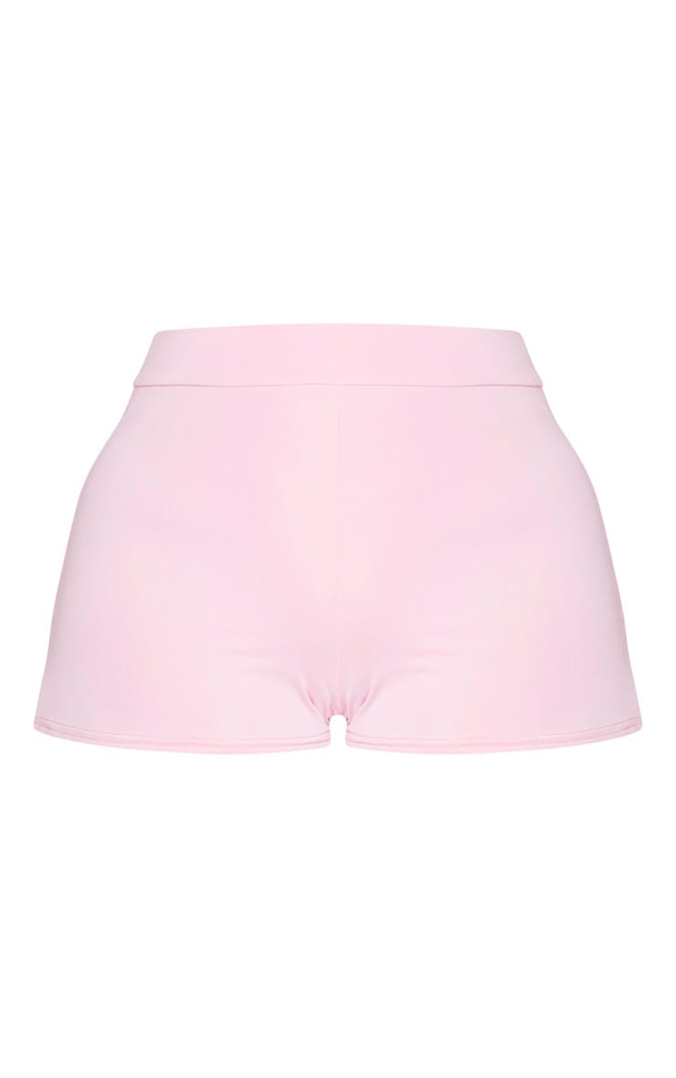 Petite Baby Pink Ruched Bum Booty Short 6