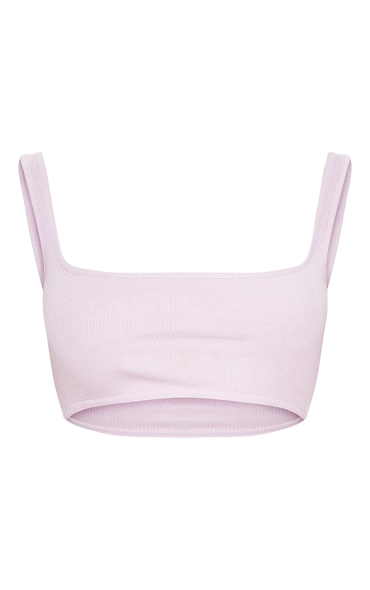 Lilac Rib Extreme Scoop Neck Bralet 3