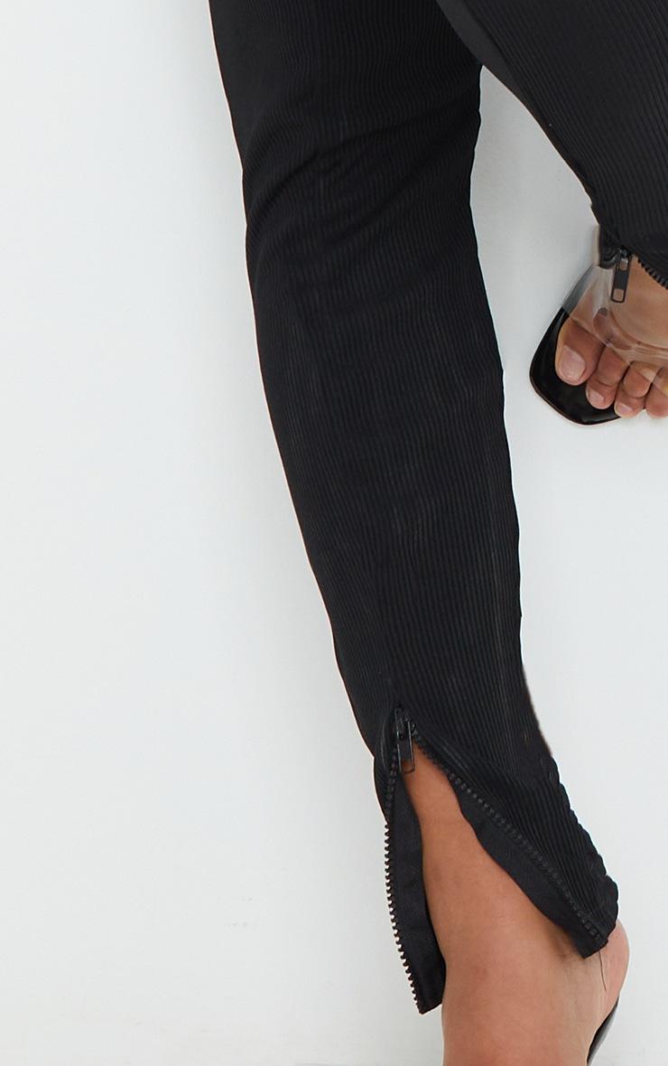 Shape Black Jumbo Rib Zip Side Leggings 4