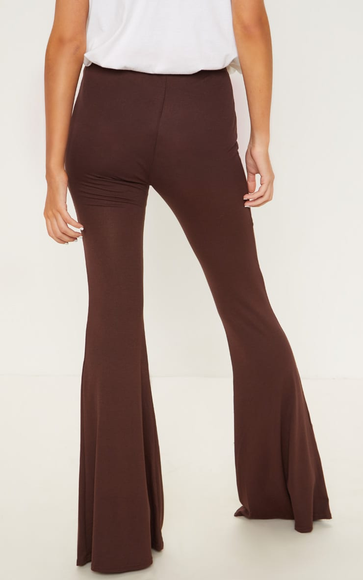Chocolate Basic Jersey Flared Trouser 4