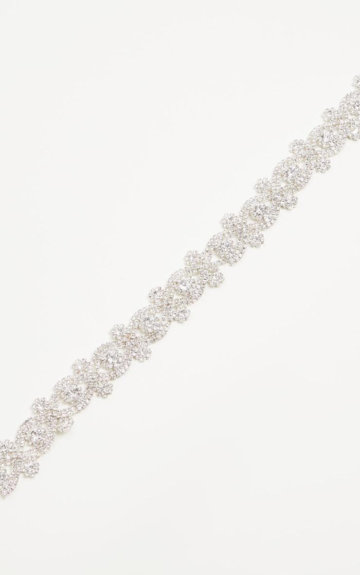 Jena Silver Diamante Choker 2