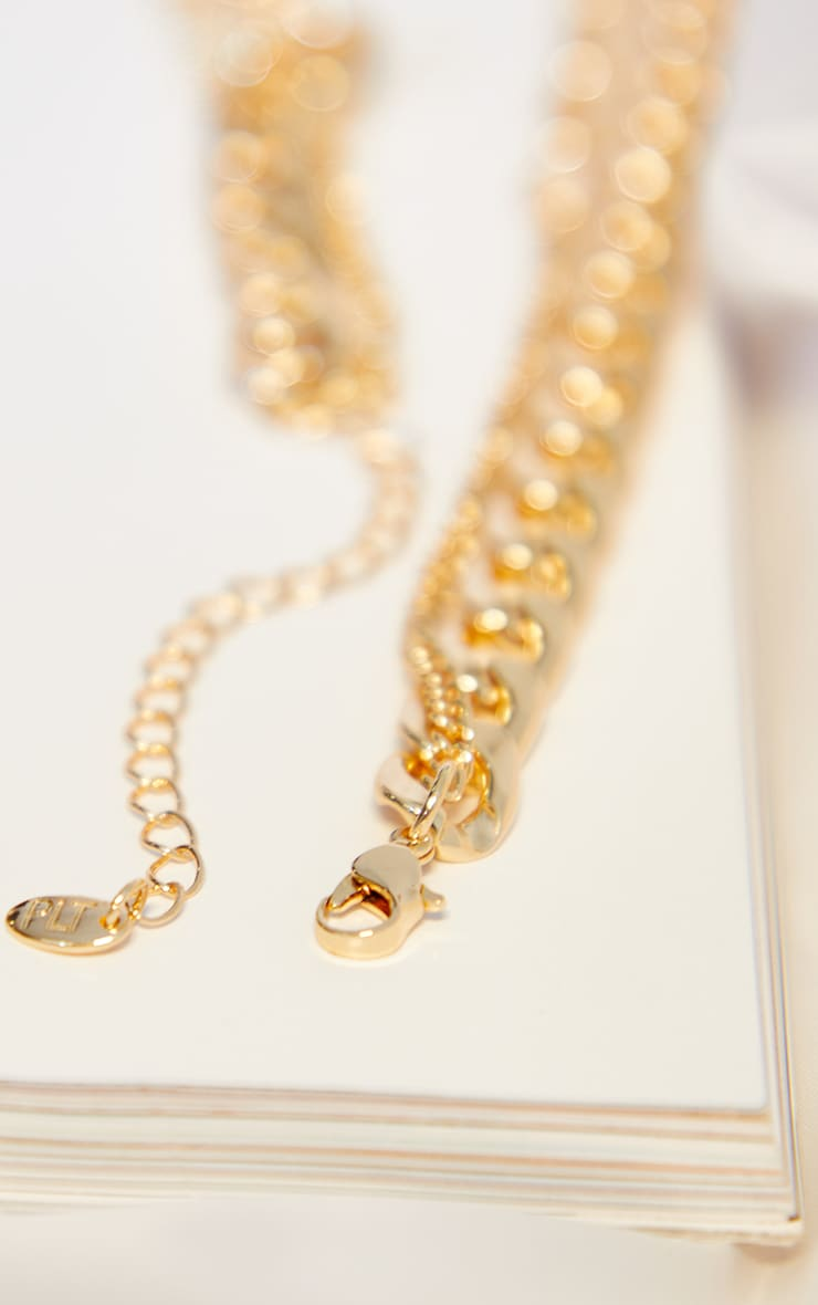 Gold Assorted Multi Chain Necklace 4