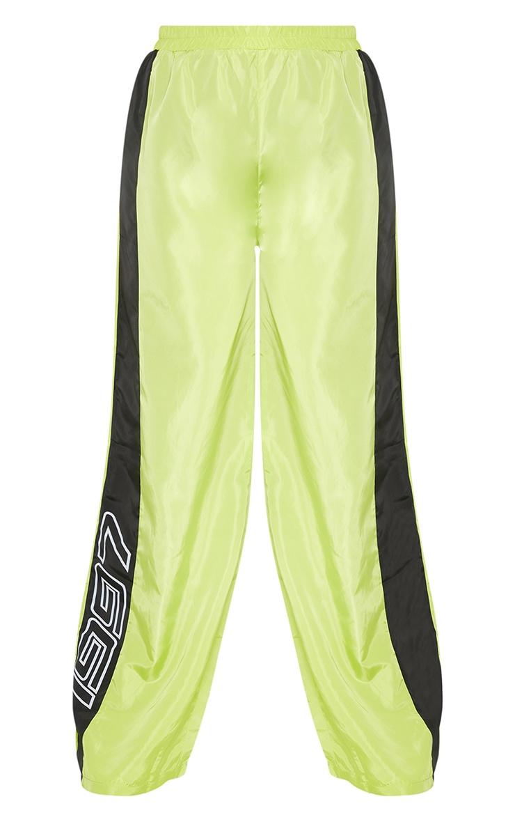 Plus Yellow Nylon 1997 Straight Leg Sports Joggers 6