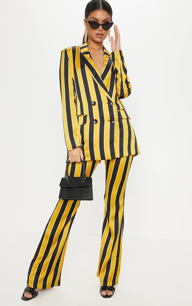 Yellow Stripe Straight Leg Trouser  1