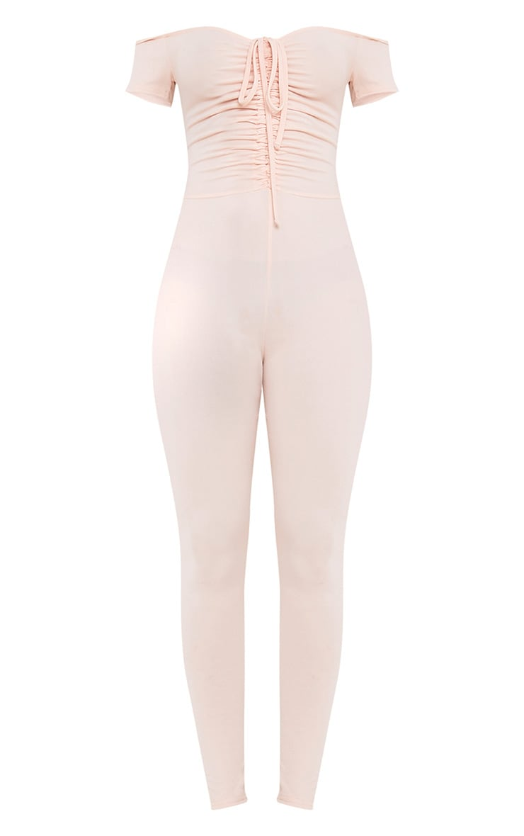 Jazlyn Nude Ruched Front Jumpsuit 4