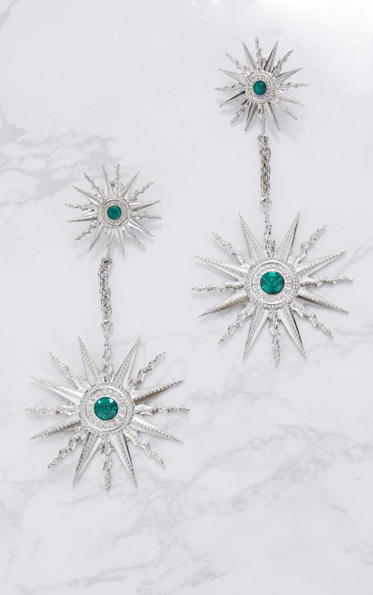 Silver Sundial Drop Earrings 3