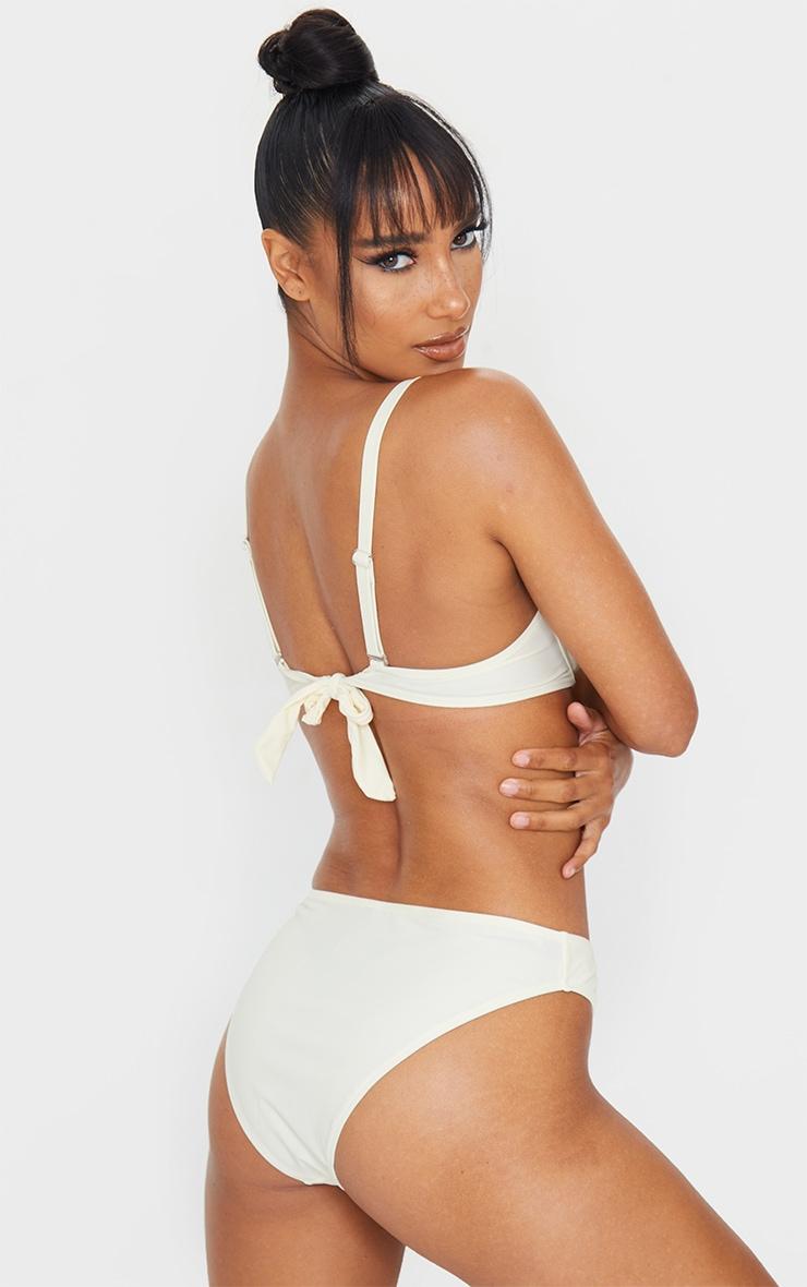 Cream Bow Back Underwired Bikini Top 2