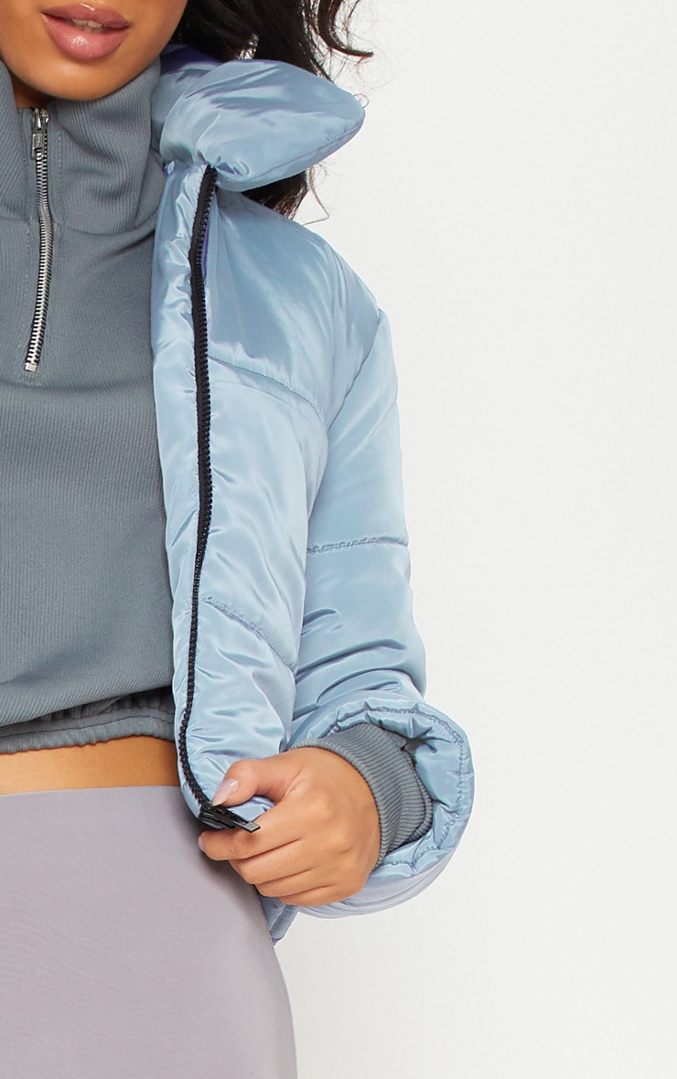 Blue Cropped Puffer 5
