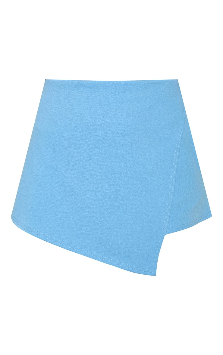 Dusty Blue Pocket Detail Wrap Over Skort  3