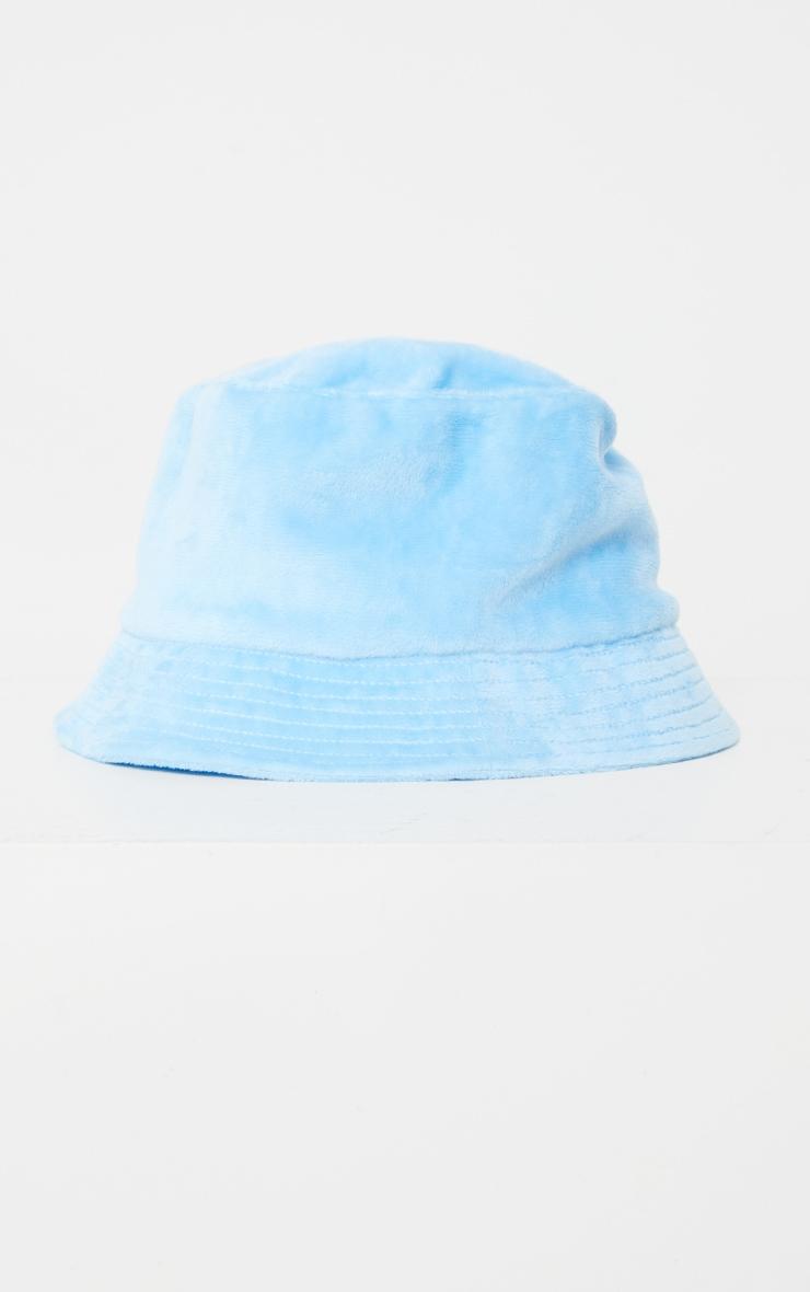 Baby Blue Velour Bucket Hat 2
