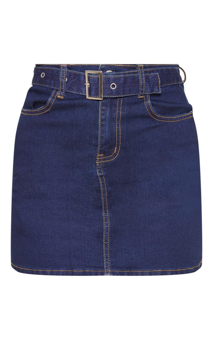 Dark Wash Disco Belted Denim Mini Skirt 3