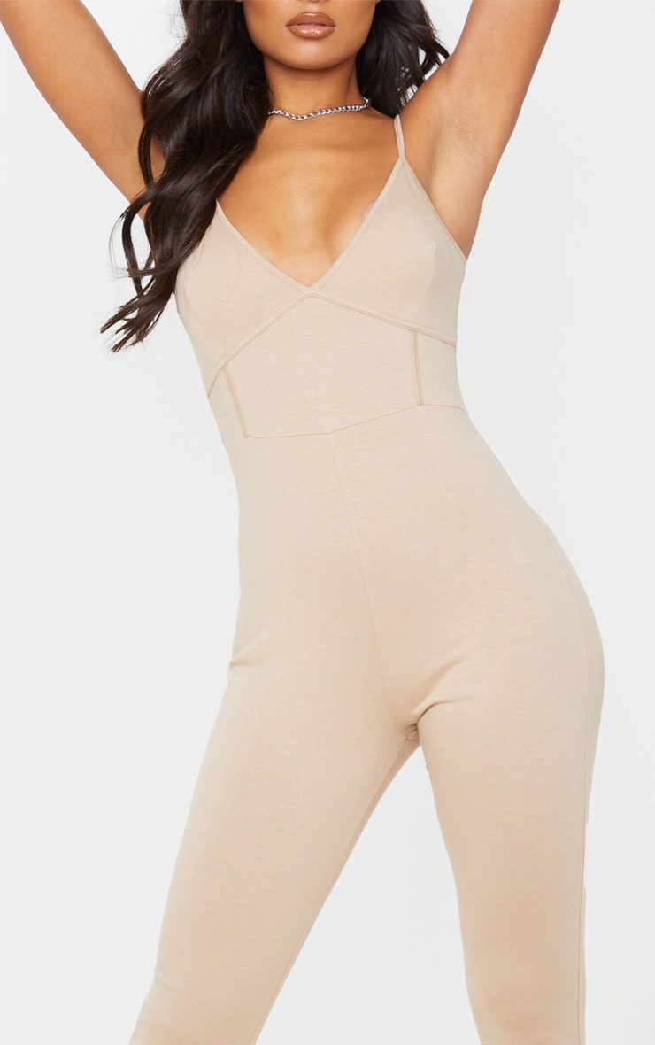 Stone Strappy Binding Detail Plunge Jumpsuit 5