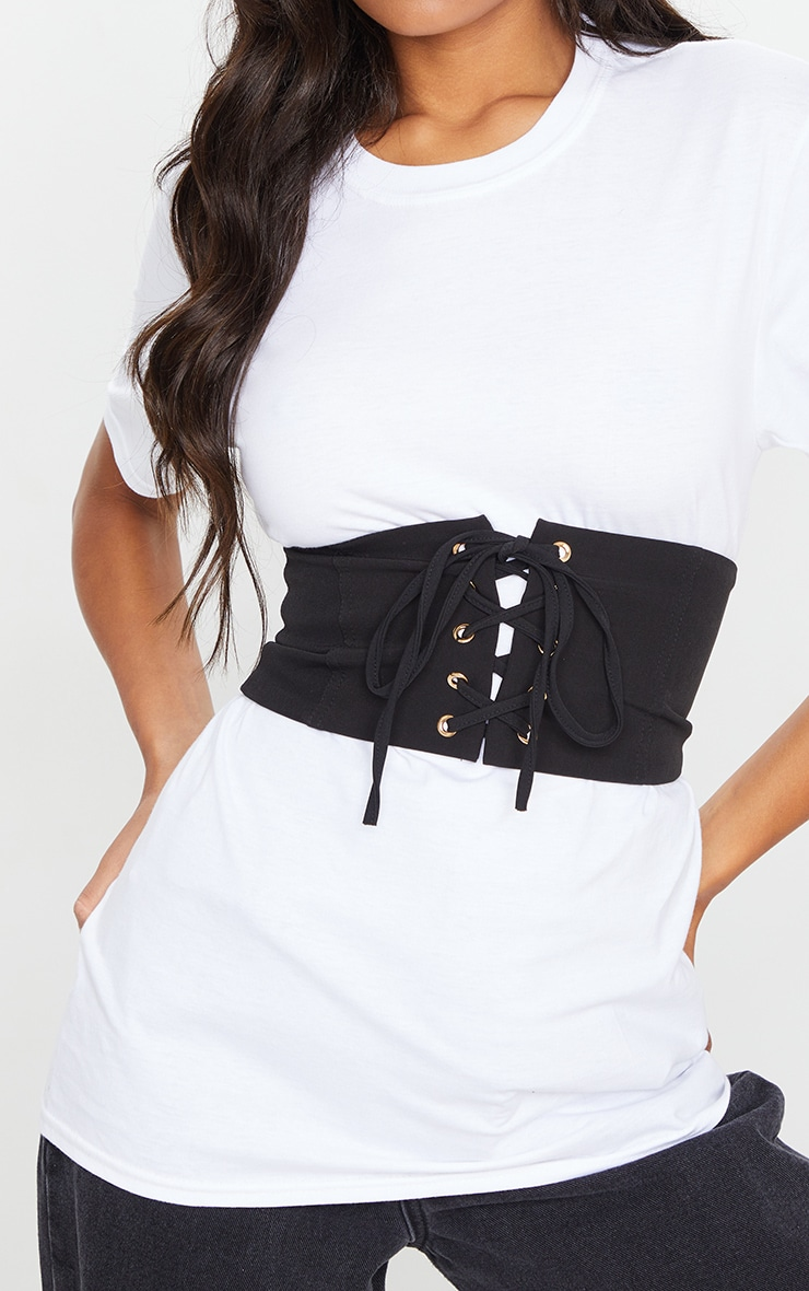 Plain Black Corset Belt 1
