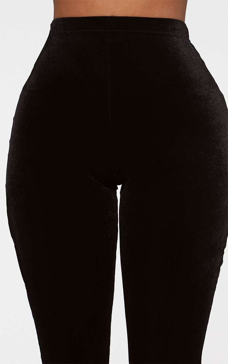 Shape Black Cropped Velvet Leggings 4