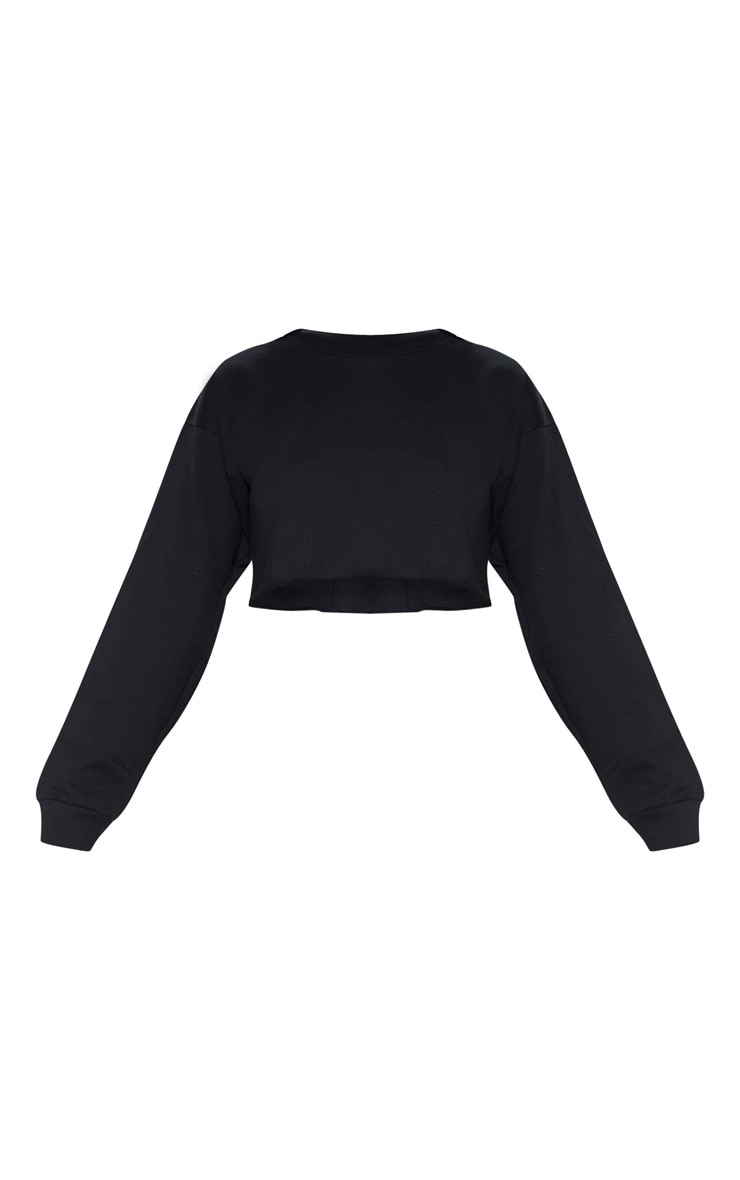 Beau Black Cut Off Crop Longsleeve Sweater 3