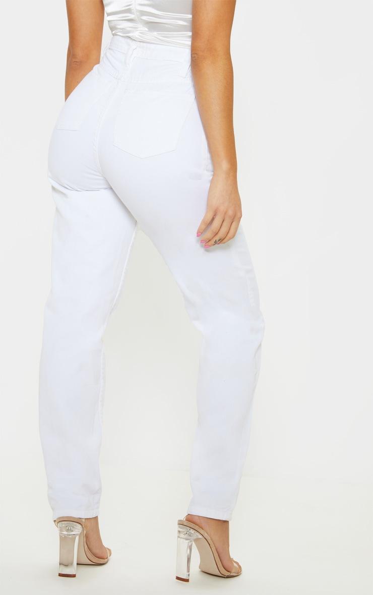 Petite White Straight Leg Jeans 4