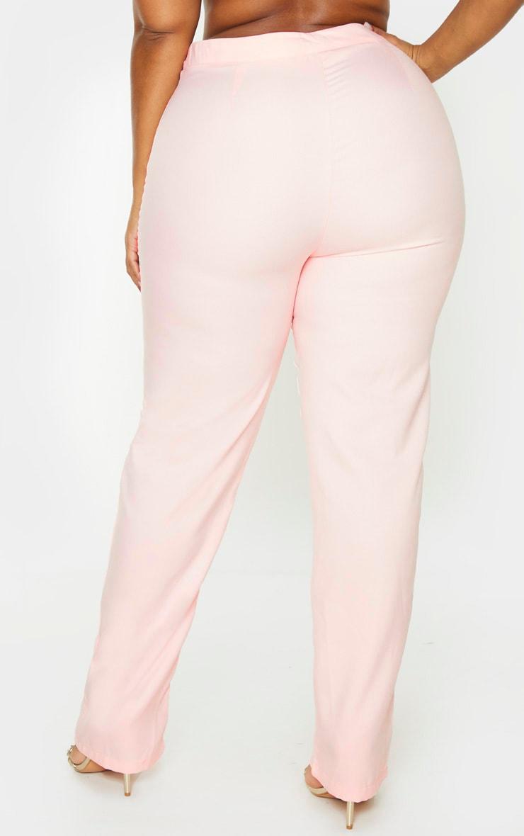Plus Dusty Pink Straight Leg Pants 4
