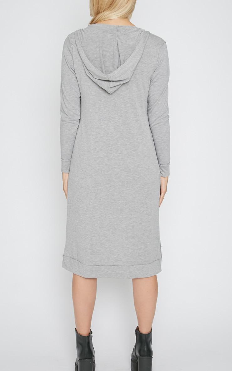 Juno Grey Hooded Jersey Cardigan  2