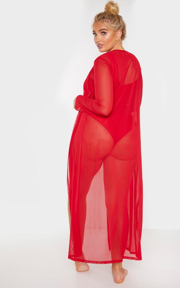 Plus Red Beach Kimono 2