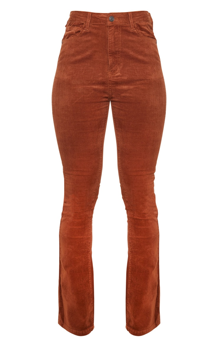 Chocolate Cord Flare Jeans 6