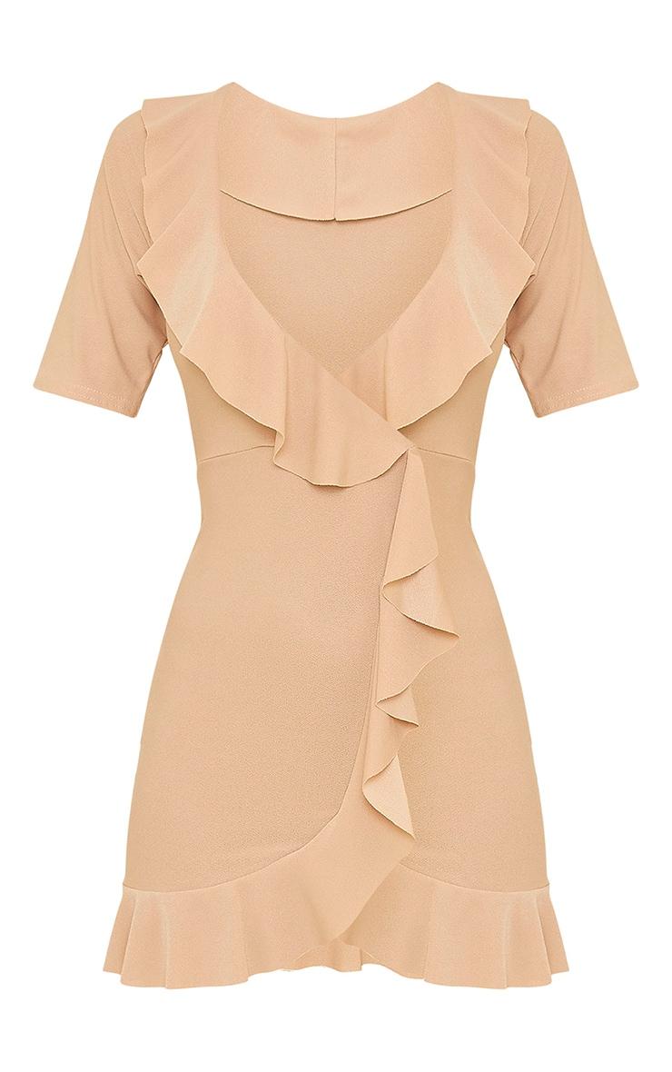 Stone Frill Detail Wrap Dress 5