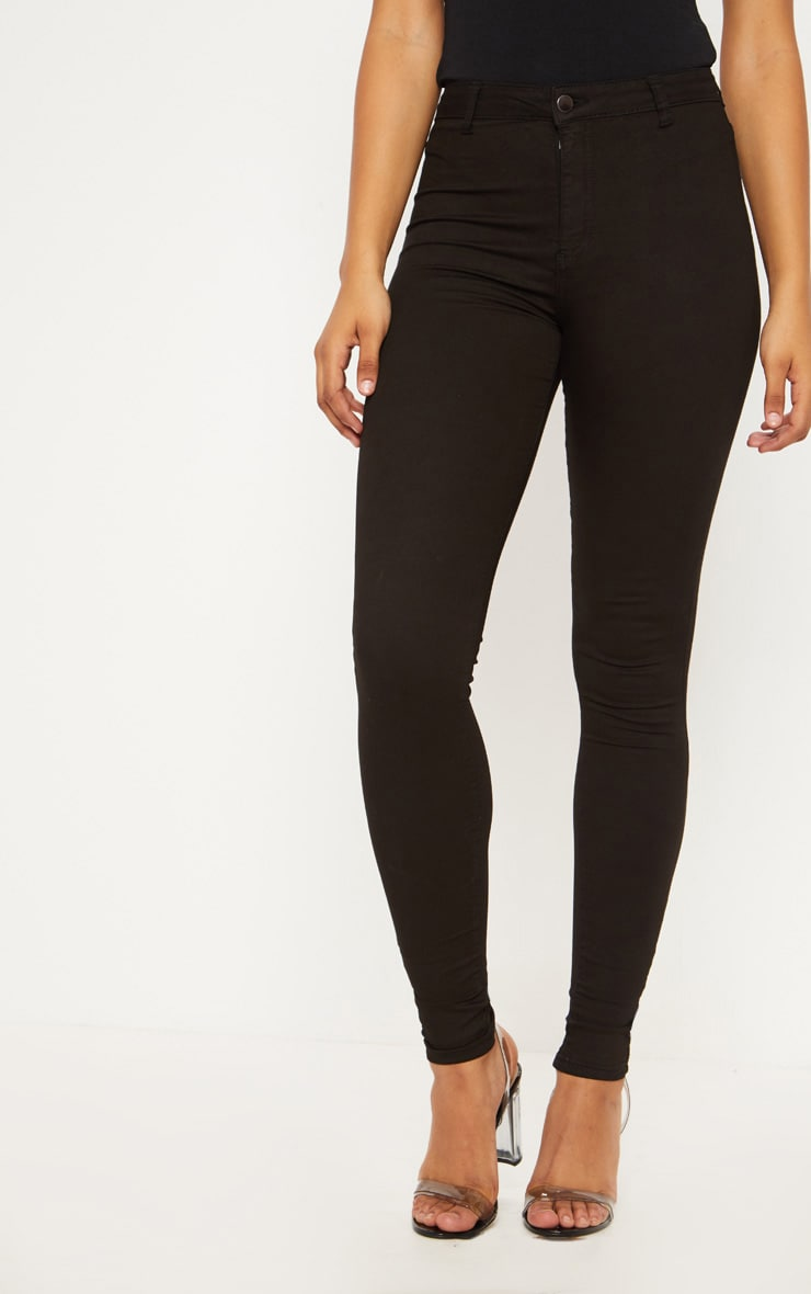 Tall Black Super Stretch Skinny Jeans  2