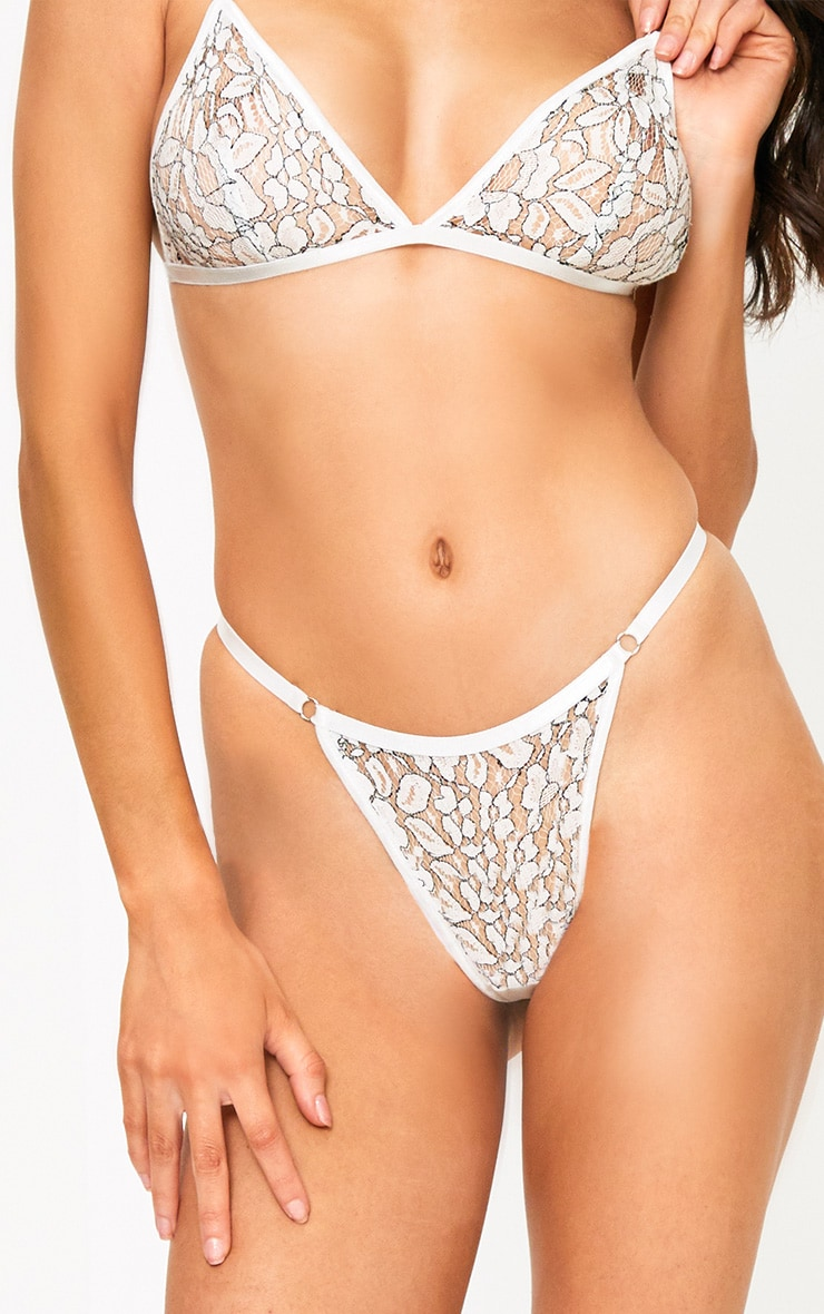 Reid White Lace Thong 1