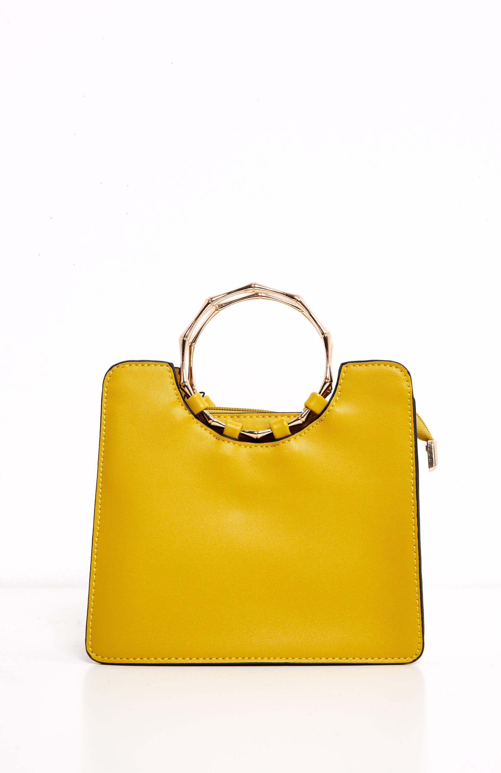Yellow Bamboo Mini Bag 2