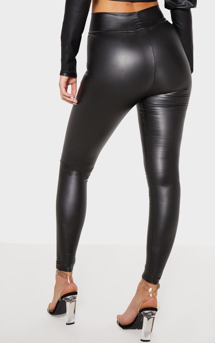Black Wet Look High Waisted Legging 5