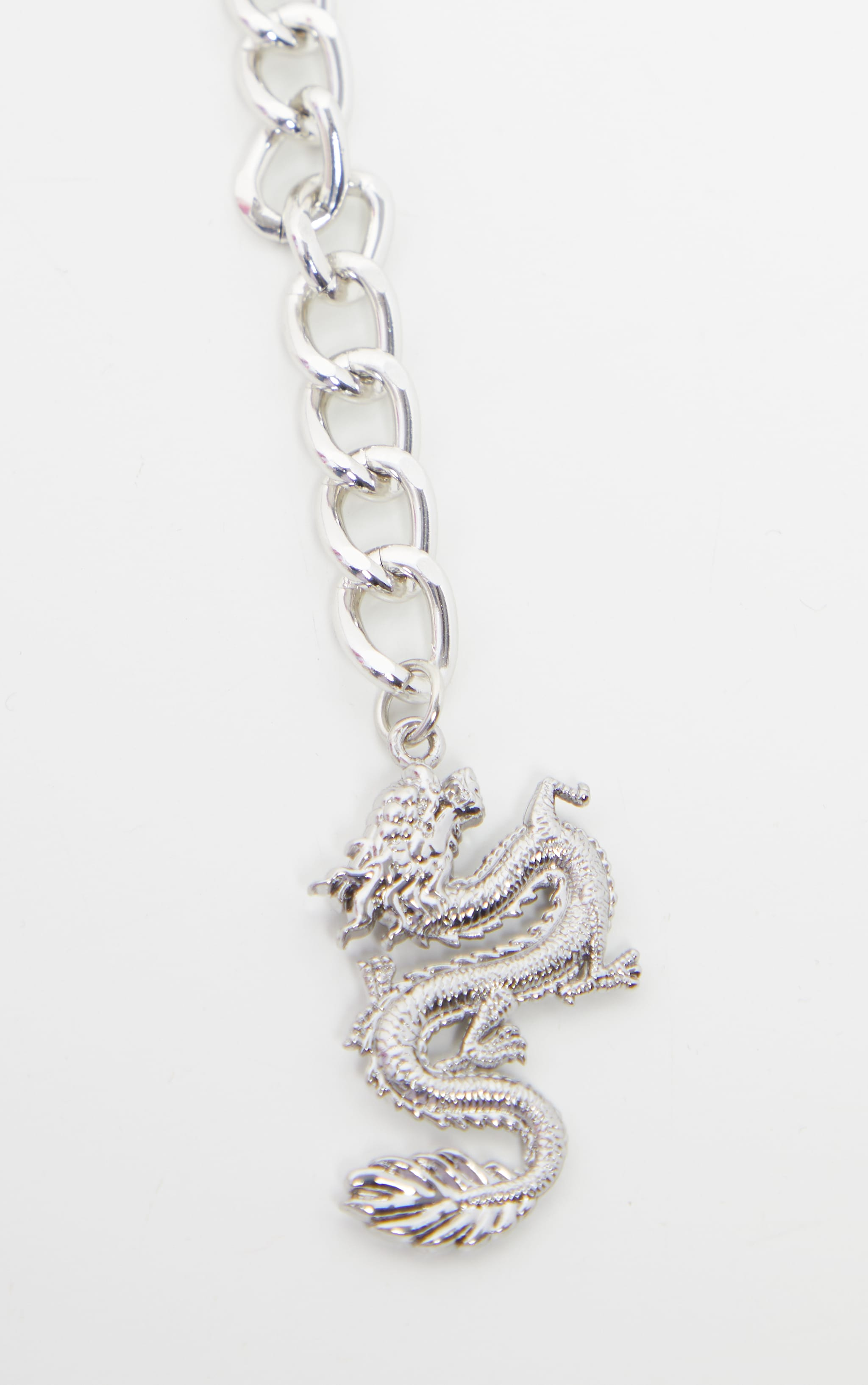 Silver Dragon Pendant Chain Belt 2