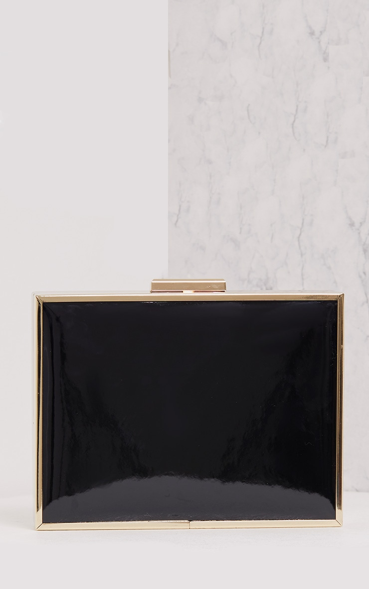 Jade Black Chunky Box Clutch 3