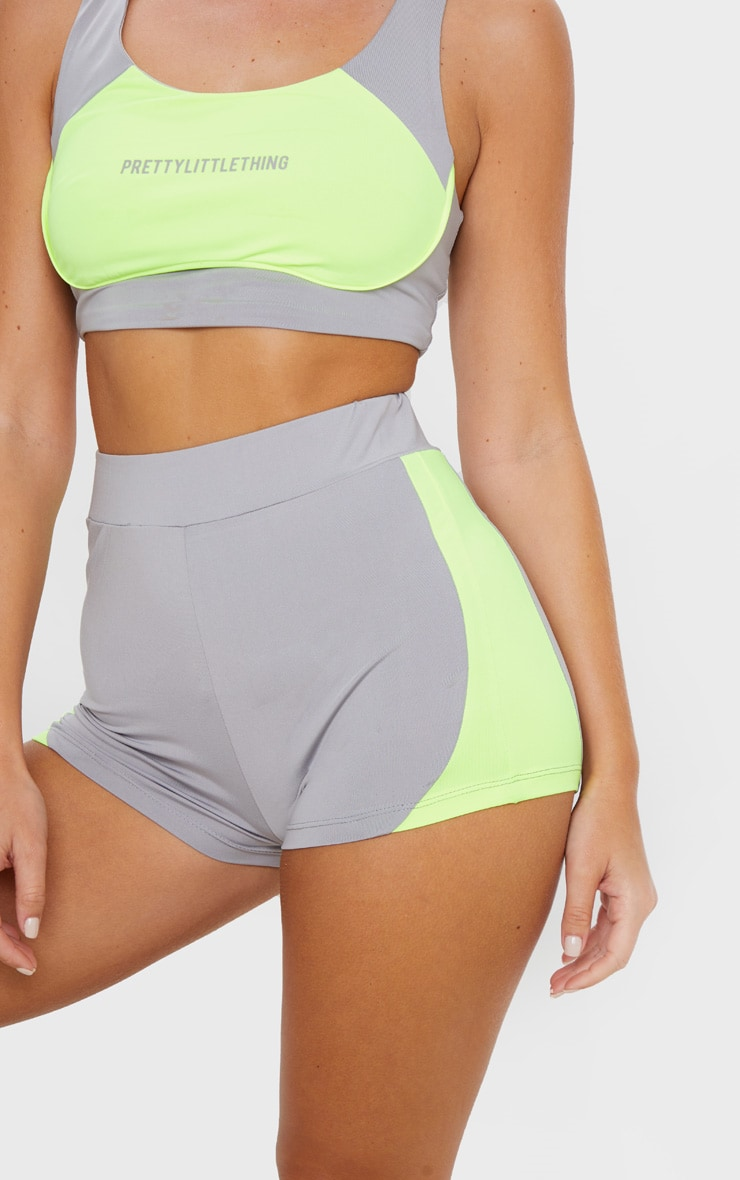 Grey Contrast Side Booty Short 6