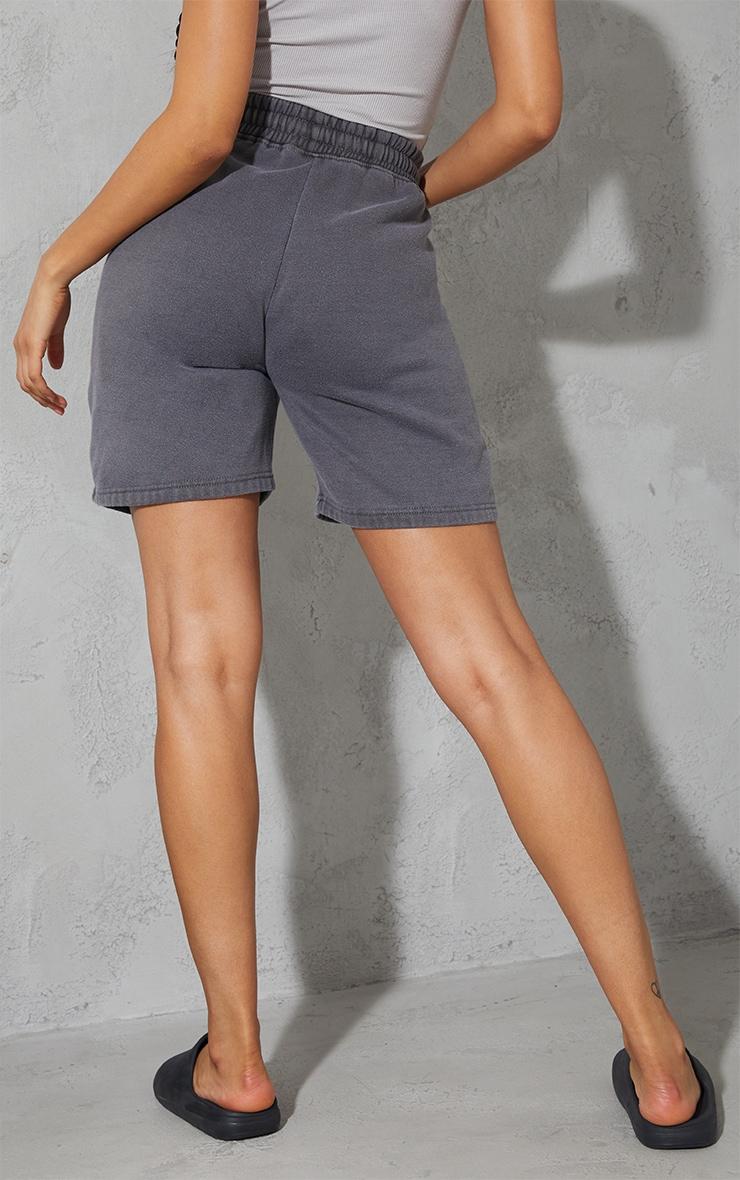 Grey Washed Sweat Short 3