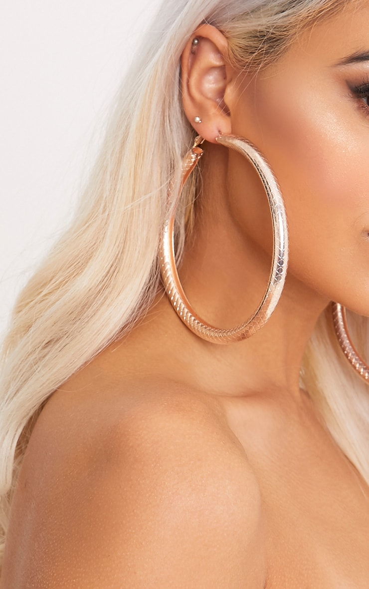 Nerys Gold Tube Hoop Earrings 3