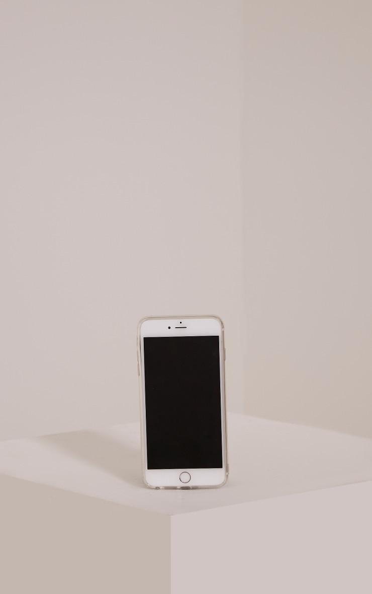 White Iphone 6+ Pom Pom Detail Phone Case 2