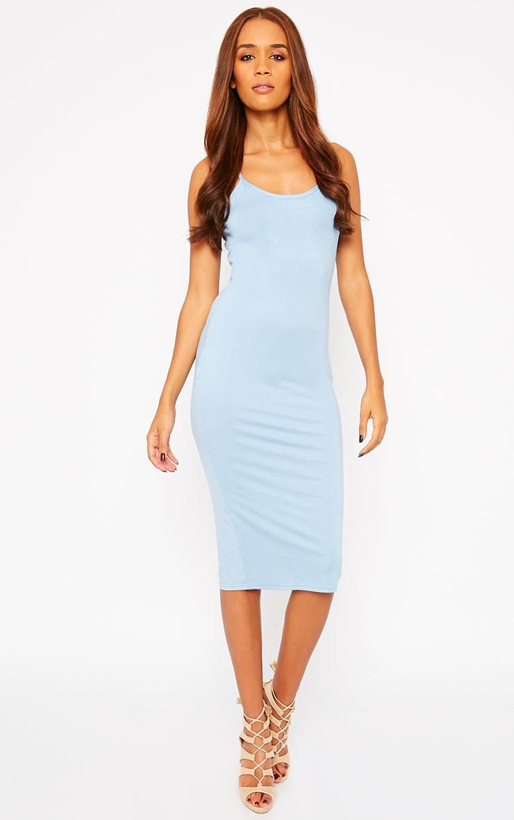 Basic Blue Midi Dress 4