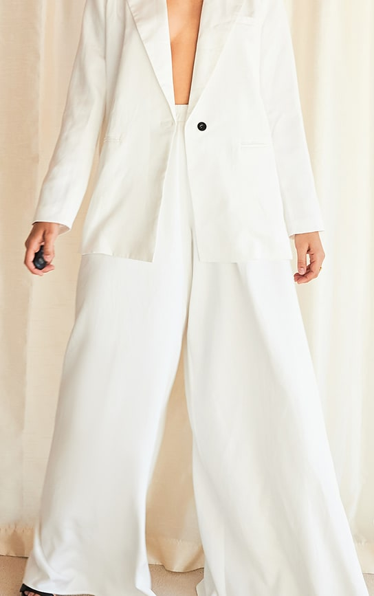 White Extreme Wide Leg Floaty Pants 4