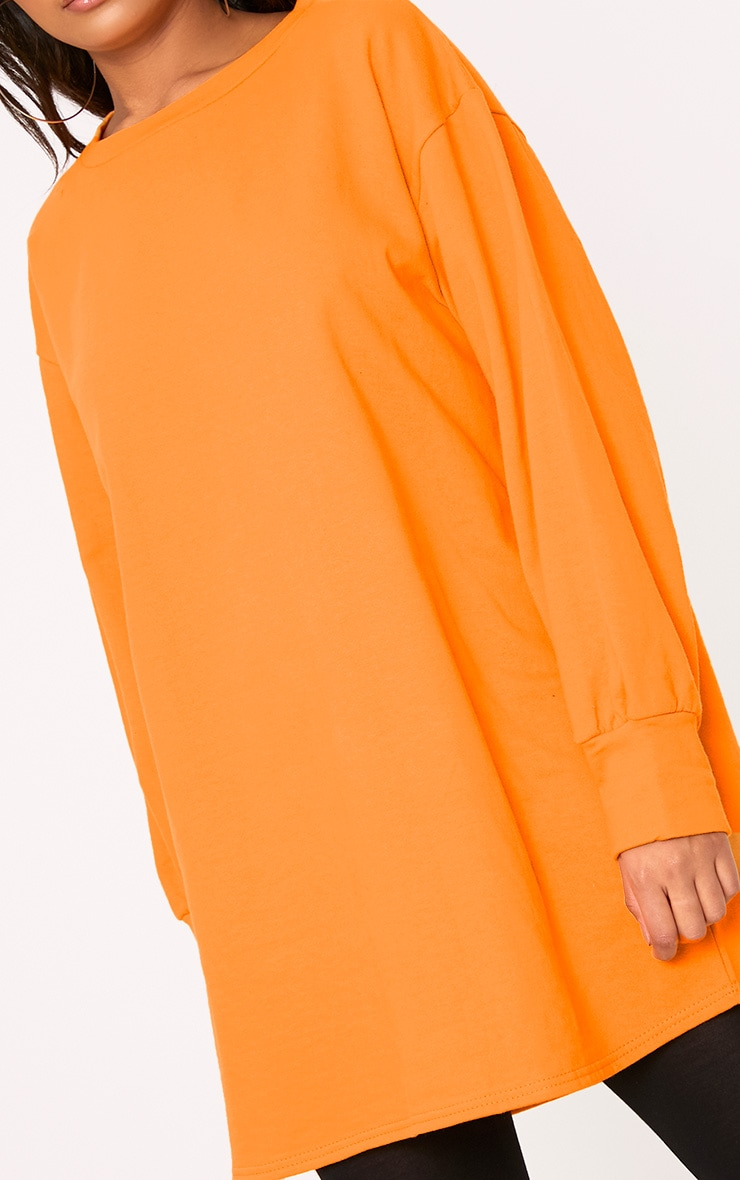 Sianna Orange Oversized Sweater Dress 5