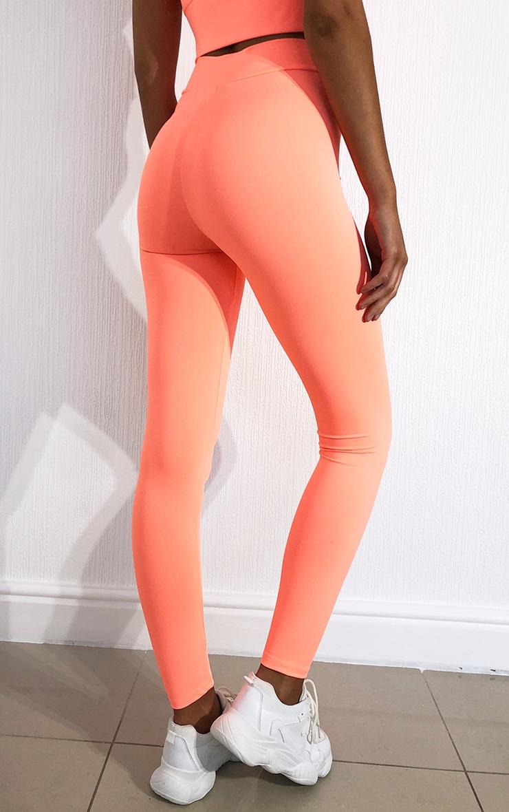 Peach Luxe High Waist Gym Leggings 3