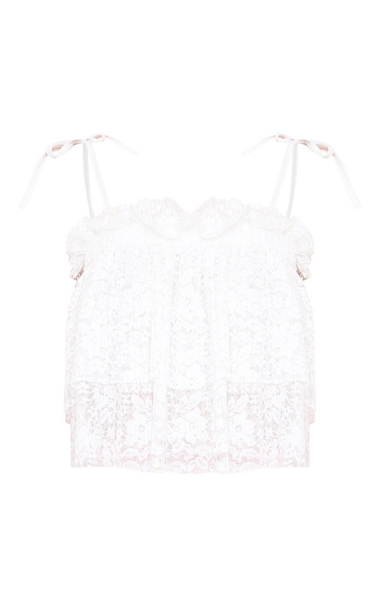 White Lace Frill Cami Top  3