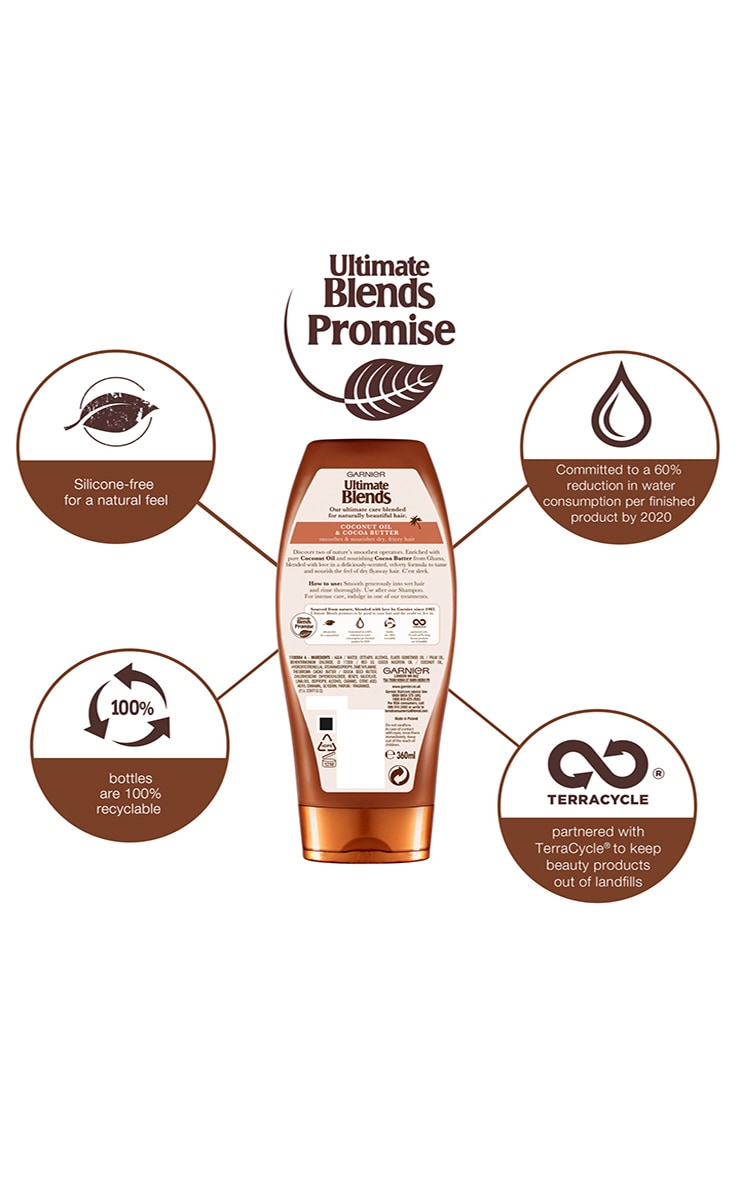 Garnier Ultimate Blends Coconut Oil & Cocoa Butter Conditioner for Curly Hair 360ml 2