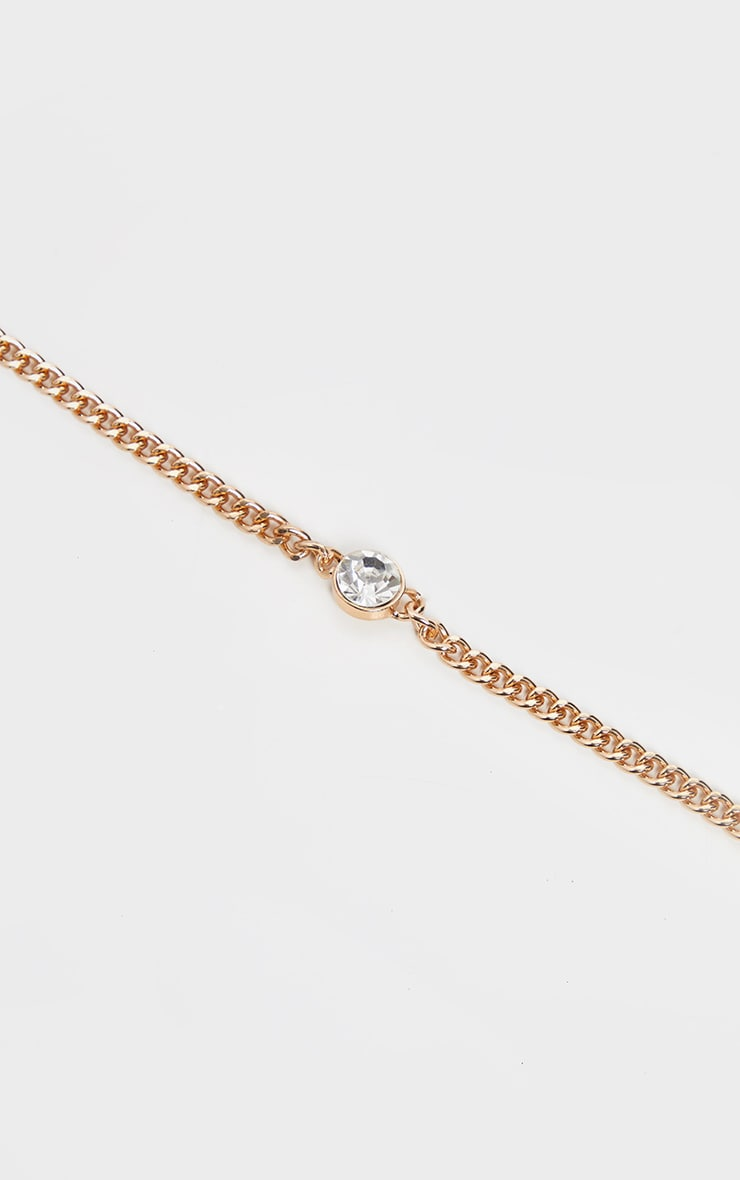 Gold Chain And Diamante Choker 4